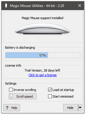 Magic Mouse Utilities Screenshot